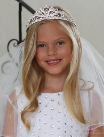 Stylish First Communion Tiara Veil