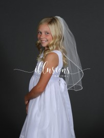 Pearl Trim First Communion Veil