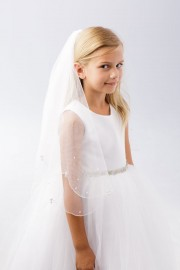 First Communion Veil with Pearl Drops