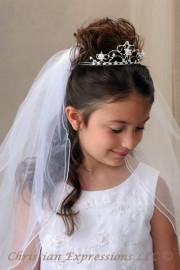 First Communion Pearl Crown Tiara