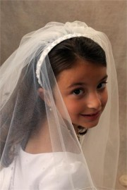 Braided First Communion Headband Veil
