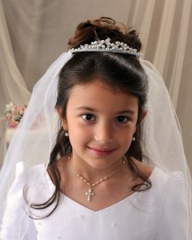 First Communion Tiaras-Ginger