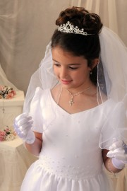 First Communion Silver Crown Tiara