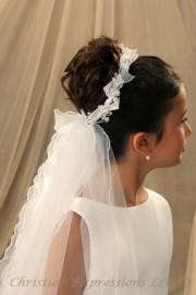 First Communion Veils-Leah