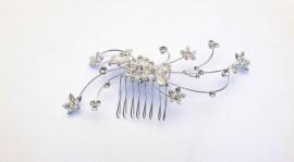 Crystal Flowerettes Wedding Hairpiece