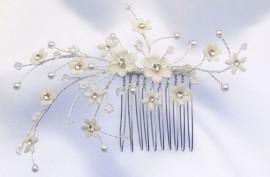 Flower Spray Wedding Hairpiece