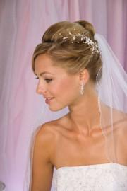 Silver Wedding Hairpiece