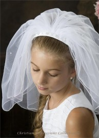 First Communion Headband Veils-4360