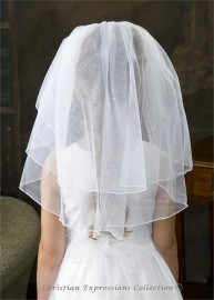 First Communion Veil with Pearls-3144