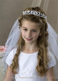 First Communion Wreath Veil- V828