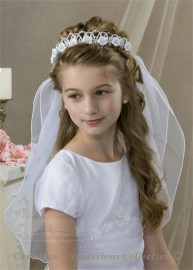 First Communion Wreath Veil- V824