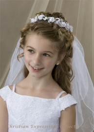 First Communion Wreath Veil V826