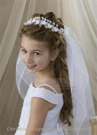 First Communion Wreath Veil- V814