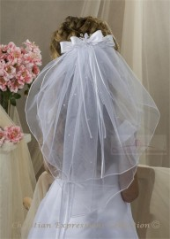 First Communion Clip Veil-V825