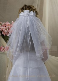 First Communion Clip Veil-V841