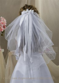First Communion Clip Veil-V830