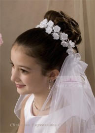 First Communion Wreath Veil-V803
