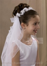 First Communion Wreath Veil-V806