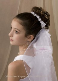 First Communion Wreath Veil-V881