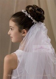 First Communion Wreath Veil-V809