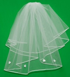 irish Shamrock First Communion Veil