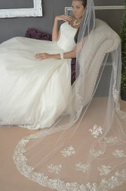 Lace Edge Catherdral Length Bridal Veil