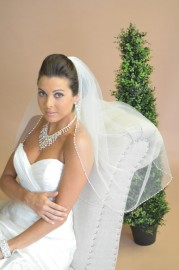 Pearl Edge  Fingertip Bridal Veil