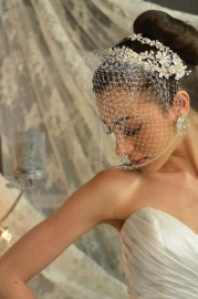 Russian Tulle Face Blusher Bridal Veil
