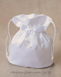 Satin First Communion Purse with Irish Claddagh