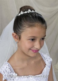 Irish Shamrocks/Celtic Knots First Communion Tiaras-T801