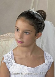 Irish Celtic Knot First Communion Tiara-T816