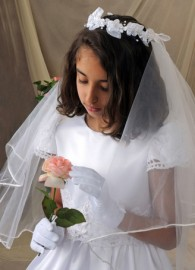 First Communion Veils-Sienna