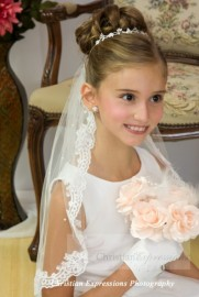First Communion Lace Mantilla