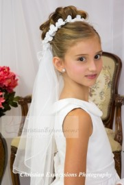 First Communion Wreath Veil V950