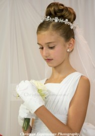 First Communion Wreath Veil V871