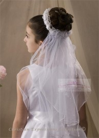 First Communion Wreath Veil-V802