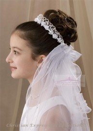 First Communion Wreath Veil-V804