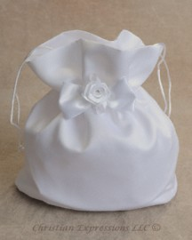 Satin First Communion Purse with Satin Bow