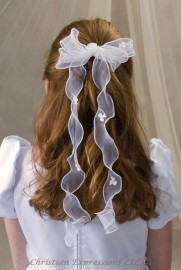 First Communion Veils-Irish Shamrock