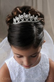 First Communion Tiaras-Serena