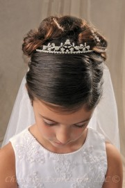 First Communion Silver Tiara Crown Headpiece