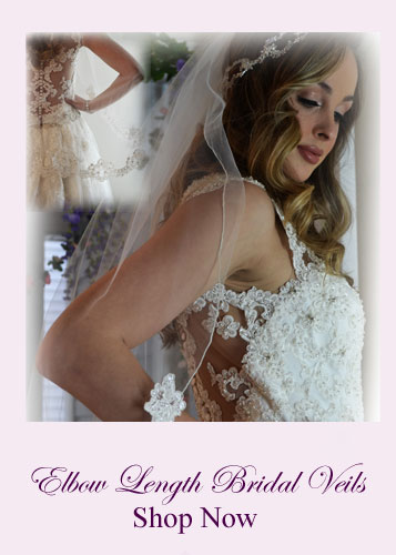 Shop Elbow Length Bridal veils for Sale