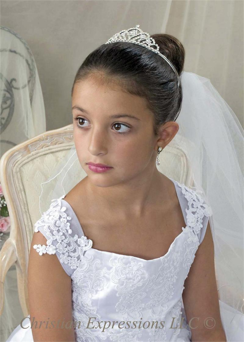 First Communion Crown Tiara With Crystals First