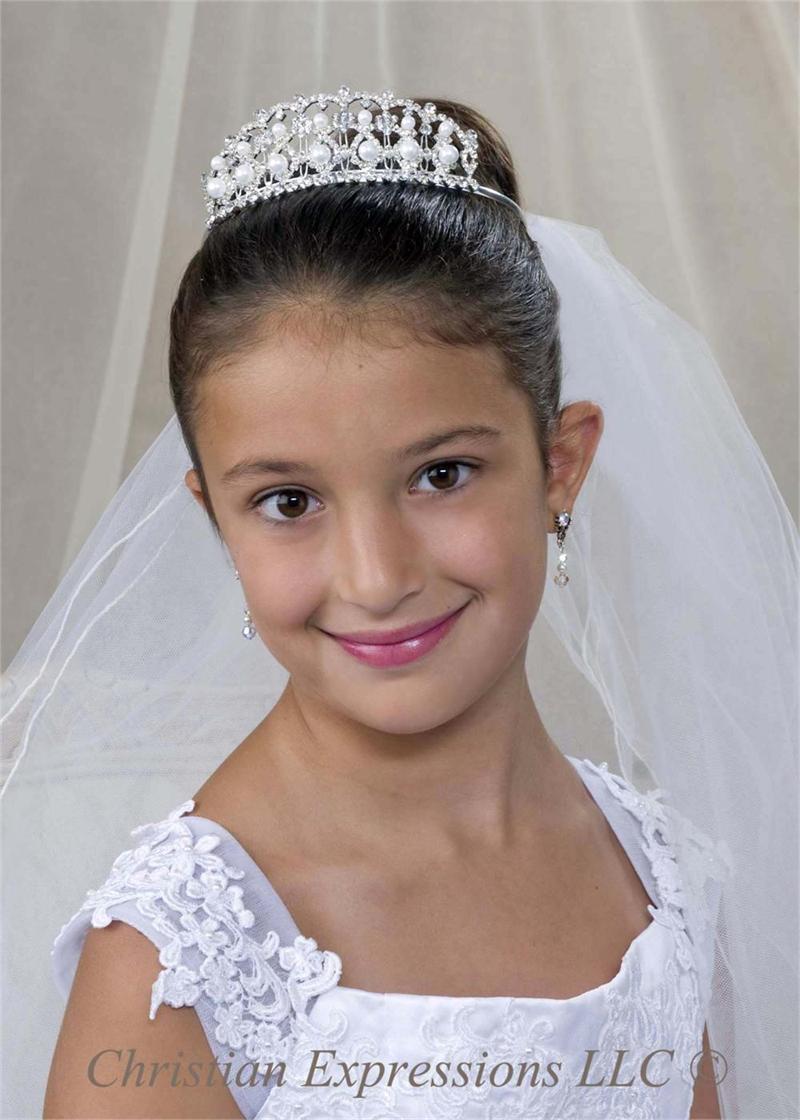 Bridal tiaras and veils - First Communion Tiaras T805
