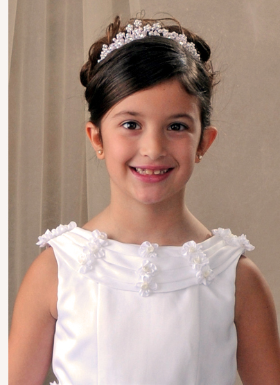 First Communion Pearl Flower Tiara | Communion Crowns and Veils on ...